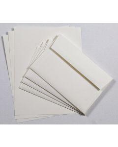 Linen Natural Cardstock and A9 Envelope Set - 10 in a set