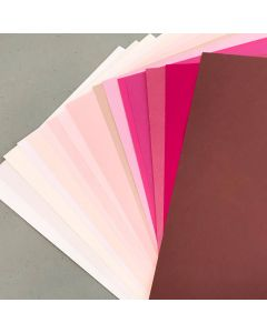 Crafters Pure Hues - Shades of PINK - (Text) MIX Finish (16 colors / 3 each) - 48 PK