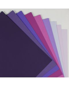 Crafters Pure Hues - Shades of PURPLE - (Text) MATTE Finish (9 colors / 5 each) - 45 PK