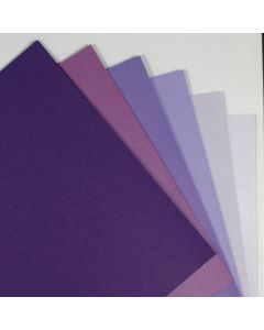 Crafters Pure Hues - Shades of PURPLE - (Text) METALLIC Finish (6 colors / 5 each) - 30 PK