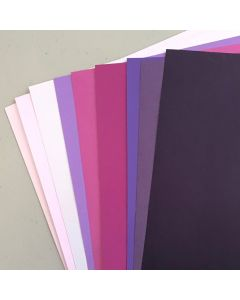Crafters Pure Hues - Shades of PURPLE - MATTE Finish (9 colors / 5 each) - 45 PK