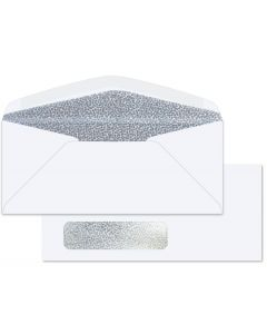 #10 WINDOW Envelopes - 24lb White Wove - Security Tint Black (Diagonal Seam) - 2500 PK [DFS-48]
