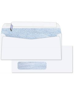 #10 WINDOW Envelopes - 24lb White Wove - Peel to Seal - Security Tint Blue (Side Seam) - 2500 PK [DFS-48]