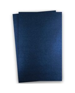 Shine MIDNIGHT Blue - Shimmer Metallic Card Stock Paper - 11x17 Ledger Size - 107lb Cover (290gsm) - 100 PK