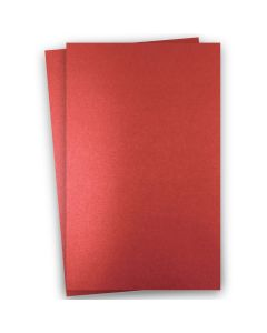 Shine RED SATIN - Shimmer Metallic Card Stock Paper - 11x17 Ledger Size - 92lb Cover (249gsm) - 100 PK