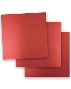Shine RED SATIN - Shimmer Metallic Card Stock Paper - 12 x 12 - 92lb Cover (249gsm) - 50 PK