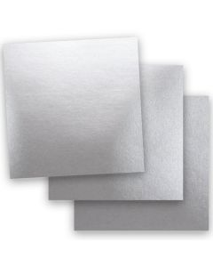 Shine SILVER - Shimmer Metallic Card Stock Paper - 12 x 12  - 92lb Cover (249gsm) - 50 PK