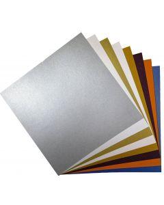 FAV Shimmer 12 x 12 Cardstock Variety Pack (8 Colors / 5 Each) - 40 PK