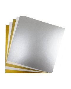 FAV Shimmer 12 x 12 Text Variety Pack (5 Colors / 10 Each) - 50 PK