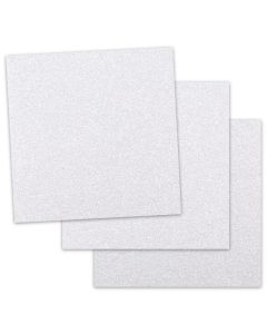 Glitter Paper - DIAMOND WHITE (1-Sided) 12-x-12 Paper (12PT Offset) - 50 PK