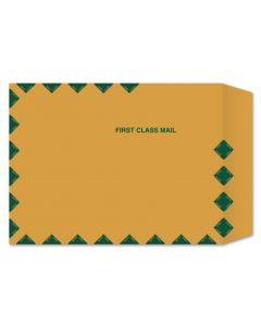9 x 12 Catalog Envelopes - 28lb BROWN Kraft with First Class Border - 500 PK