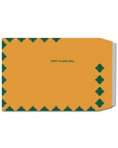9 x 12 Catalog Envelopes (Peel to Seal) - 28lb BROWN Kraft with First Class Border - 500 PK