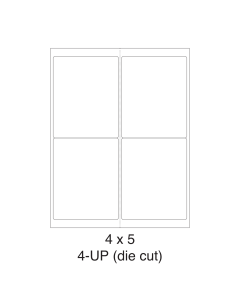 4 UP Shipping Labels - (5 in x 4 in) - Shipping Labels - 4 Labels per Sheet / 1000 Sheets