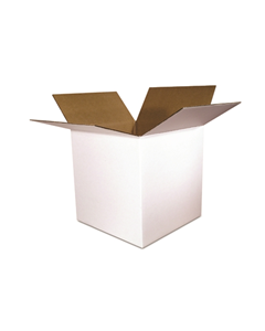 6 x 6 x 6 White Corrugated Shipping Boxes (White 200# / 32 ECT) - 25-PK