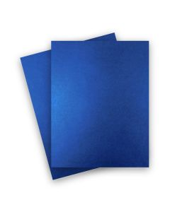 Shine BLUE SATIN - Shimmer Metallic Card Stock Paper - 8.5 x 11 - 92lb Cover (249gsm) - 25 PK