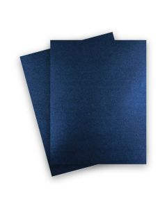 Shine MIDNIGHT Blue - Shimmer Metallic Card Stock Paper - 8.5 x 11 - 107lb Cover (290gsm) - 25 PK