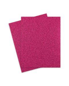 Glitter Paper - Glitter MAGENTA (1-Sided) 8.5X11 Letter Size - 10 PK