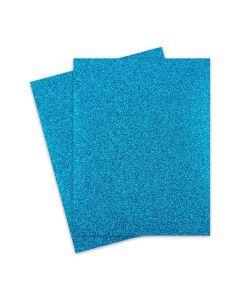 Glitter Paper - Glitter TEAL BLUE (1-Sided) 8.5X11 Letter Size - 10 PK