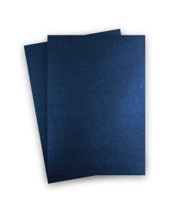 Shine MIDNIGHT Blue - Shimmer Metallic Card Stock Paper - 8.5 x 14 Legal Size - 107lb Cover (290gsm) - 150 PK