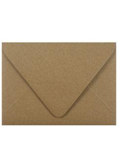 Brown Bag Envelopes - KRAFT (30/78lb) - A7 EURO FLAP Envelopes - 50 PK