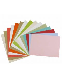 [Clearance] A7 Flat Cards Variety Pack 5 x 7 Insert Matte Finish (15 colors / 3 each) - 45 PK
