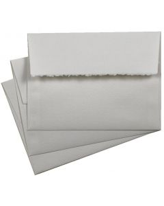Deckled edge envelopes A7 soft white