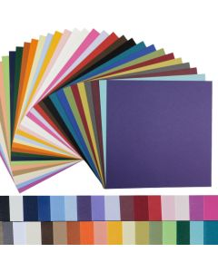 BASIS COLORS - 12 x 12 Square Size Cardstock Paper - 80LB COVER - 50 PK