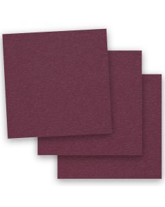 BASIS COLORS - 12 x 12 CARDSTOCK PAPER - Burgundy - 80LB COVER - 50 PK