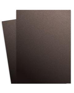 Curious Metallic - CHOCOLATE 27X39 Full Size Card Stock Paper 111lb Cover - 100 PK