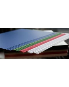 Crafters Pure Hues - Cool Shades 8.5 x 11 - (CARDSTOCK) Metallic Finish (5 colors / 10 each) - 50 PK