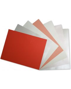 Crafters Pure Hues - Shades of CORAL/CREAM 8.5 x 11  - (Text) MIX Finish (7 colors / 5 each) - 35 PK