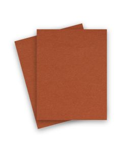 BASIS COLORS - 8.5 x 11 CARDSTOCK PAPER - Dark Orange - 80LB COVER - 25 PK