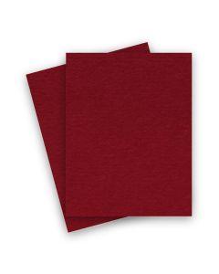 BASIS COLORS - 8.5 x 11 CARDSTOCK PAPER - Dark Red - 80LB COVER - 25 PK