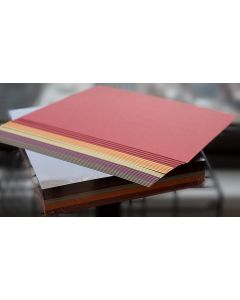 Crafters Pure Hues - Warm Shades 8.5 x 11 - (CARDSTOCK) Metallic Finish (5 colors / 10 each) - 50 PK