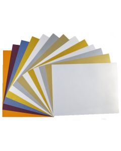 Elegant FAV Shimmer Metallic 8.5 x 11 CARDSTOCK Variety Pack (8 Colors / 5 each) - 40 PK