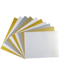 Elegant FAV Shimmer Metallic 8.5 x 11 TEXT Variety Pack (5 Colors / 10 each) - 50 PK