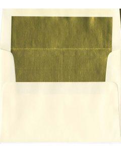 A8 Natural/Gold Foil Lined Envelope - 1000 PK