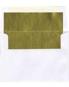 A8 White/Gold Foil Lined Envelope - 250 PK