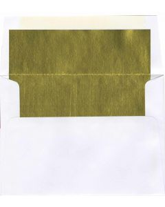 A9 White/Gold Foil Lined Envelope - 250 PK