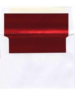 A8 White/Red Foil Lined Envelope - 1000 PK