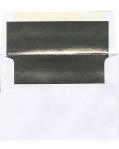 A7 White/Silver Foil Lined Envelope - 1000 PK