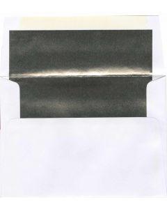 A8 White/Silver Foil Lined Envelope - 250 PK