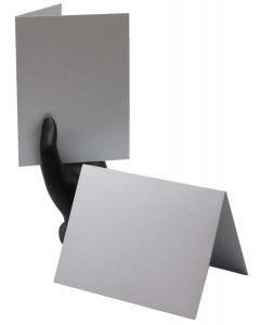 Shine Silver - A2 Folded Cards - 92lb Cover (249gsm) Shimmer Metallic - 25 PK