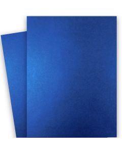 Shine BLUE SATIN - Shimmer Metallic Card Stock Paper - 28x40 - 92lb Cover (249gsm)