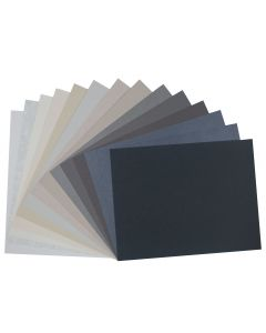 Crafters Pure Hues - Shades of GRAY - 8.5 X 11 (Text) MIX Finish (14 colors / 3 each) - 42 PK