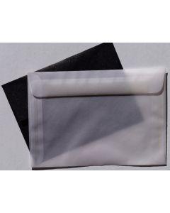 [Clearance] White Translucent (Vellum) - 5.25-x-7.5 ENVELOPES - 25 PK