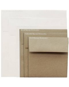 Brown Bag Envelopes - KRAFT (30/78lb) - 6 in Square Envelopes - 25 PK