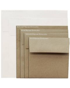 Brown Bag Envelopes - KRAFT (30/78lb) - 6.5 in Square Envelopes - 800 PK