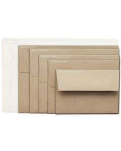 Brown Bag Envelopes - KRAFT (30/78lb) - A8 Envelopes - 50 PK