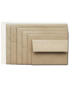 Brown Bag Envelopes - KRAFT (30/78lb) - A9 Envelopes - 50 PK